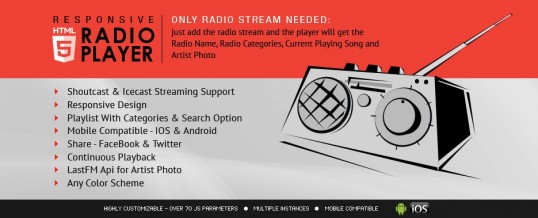 10 AWESOME HTML5 RADIO PLAYER WP PLUGINS