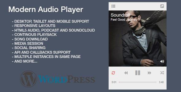 Modern HTML5 Audio Player WordPress Plugin