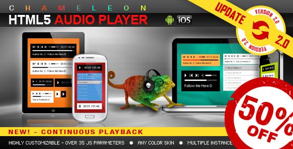 Chameleon Playlist HTML5 audio player jQuery plugin