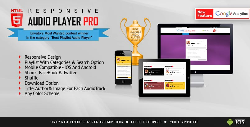 HTML5 Audio Player PRO jQuery Audio Player Plugin