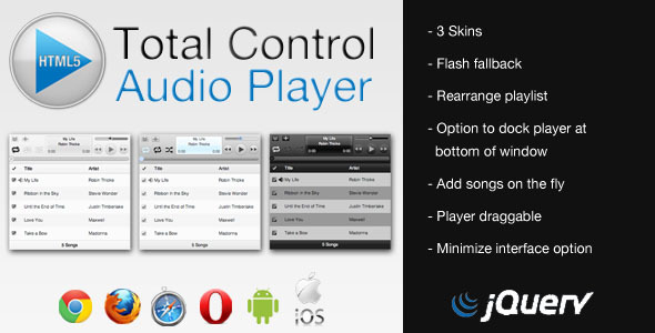 Total Control HTML5 Audio Player